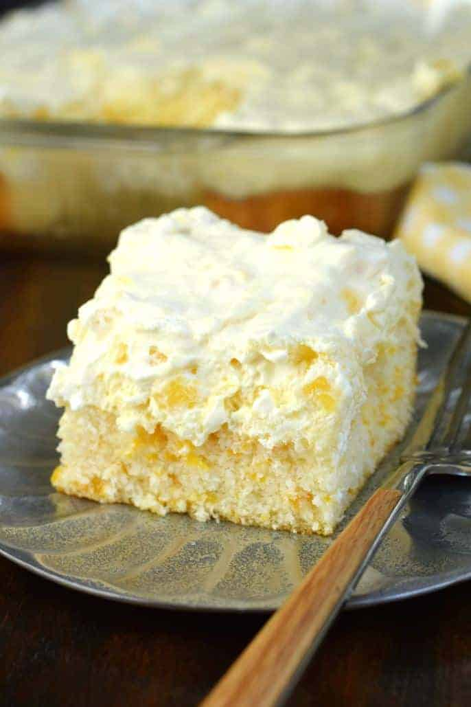 Up Cake With Pineapple Coconut Frosting