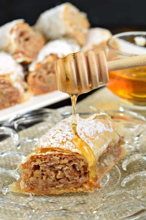 Easy Russian Rolled Baklava from Shugary Sweets