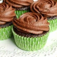 Chocolate Frosted Chocolate Cupcakes