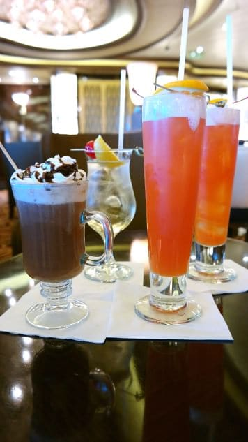 Drinks aboard Princess Cruises