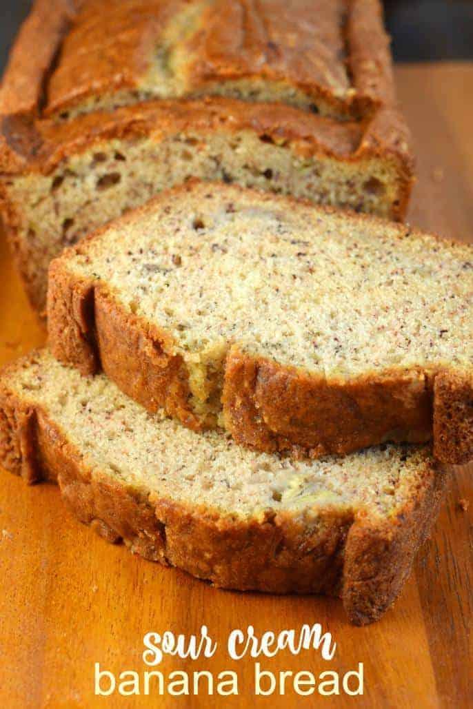Sour Cream Banana Bread Shugary Sweets