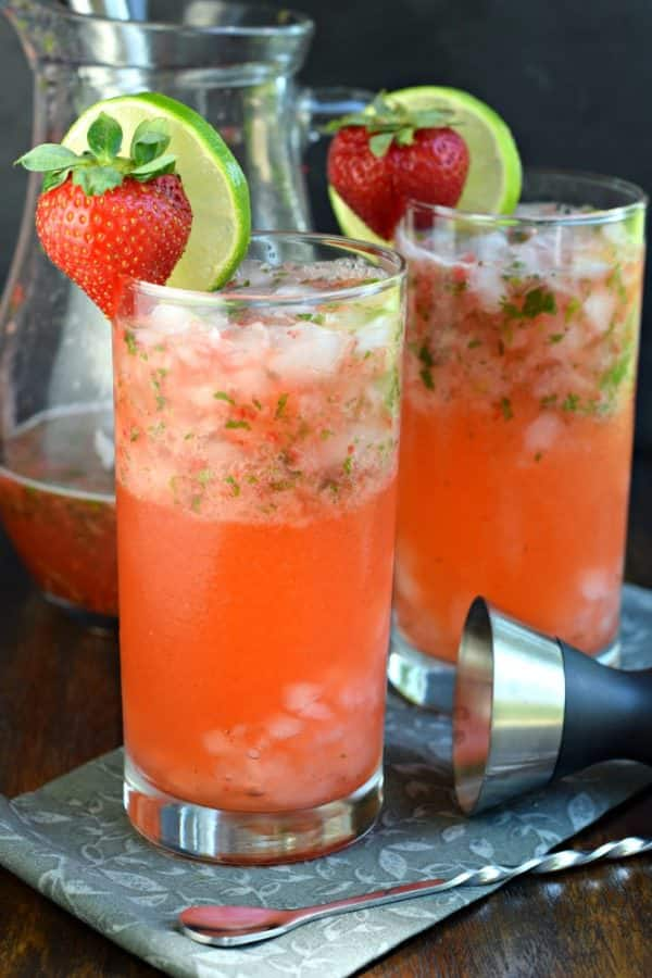 Strawberry Mojitos from Shugary Sweets