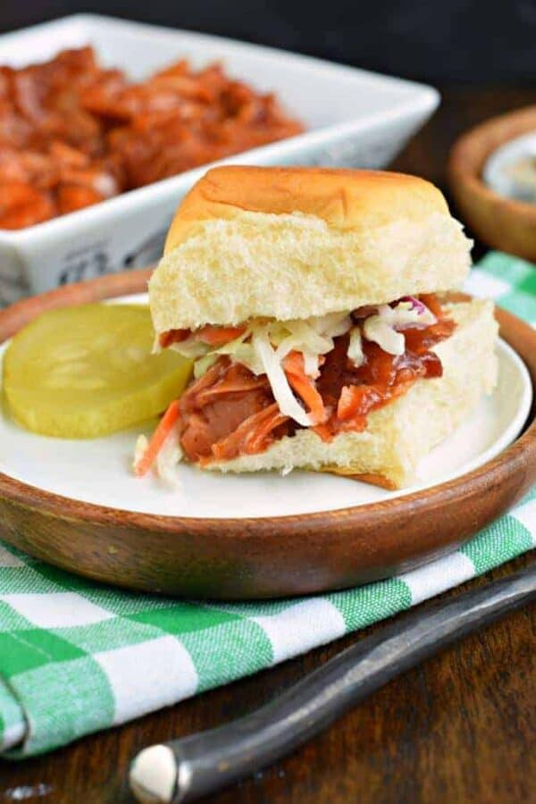 Wondering how to use jackfruit to make the most delicious BBQ Jackfruit Sliders and learn why this food is so trendy?? It's all about the texture and flavor of this vegetarian dish!