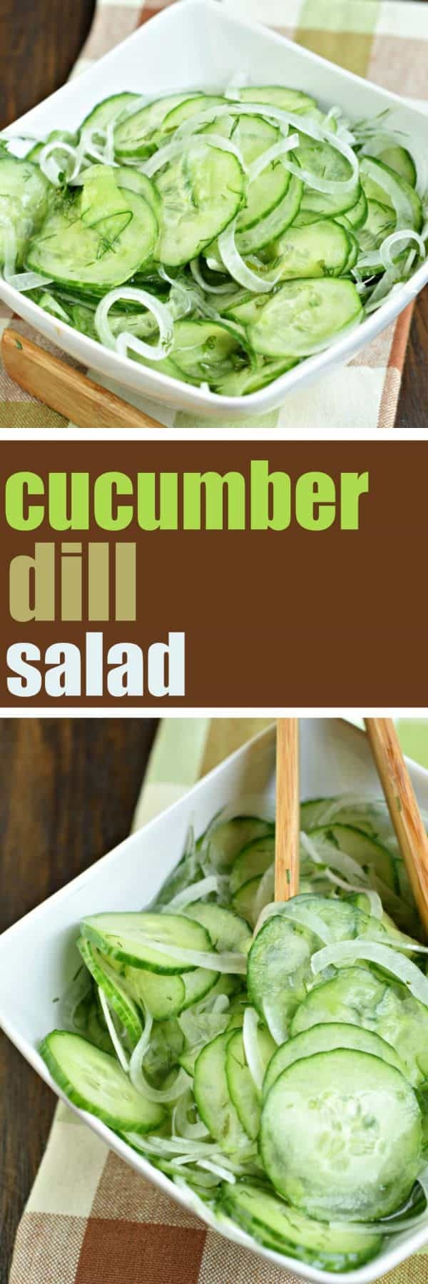 You'll love this garden fresh Cucumber Dill Salad! Serve it up with your next summer meal for a crisp, savory, flavorful bite!
