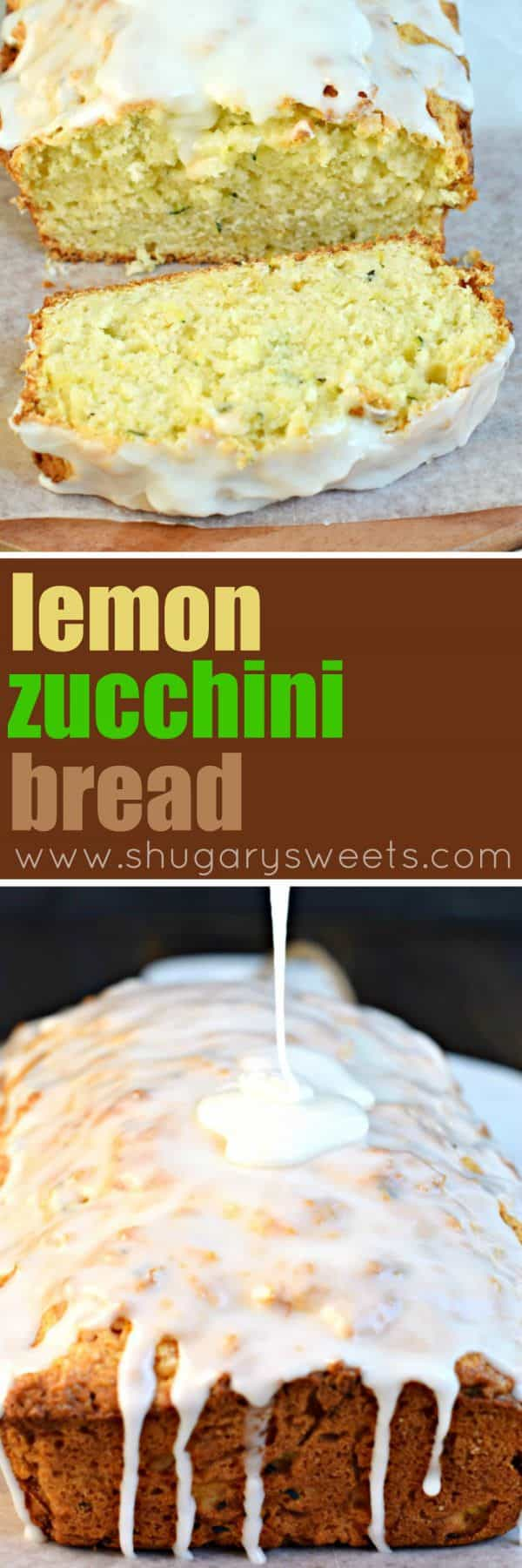 Enjoy a slice of this incredibly sweet and moist Lemon Zucchini Bread for breakfast, brunch or as an evening treat! It won't disappoint!