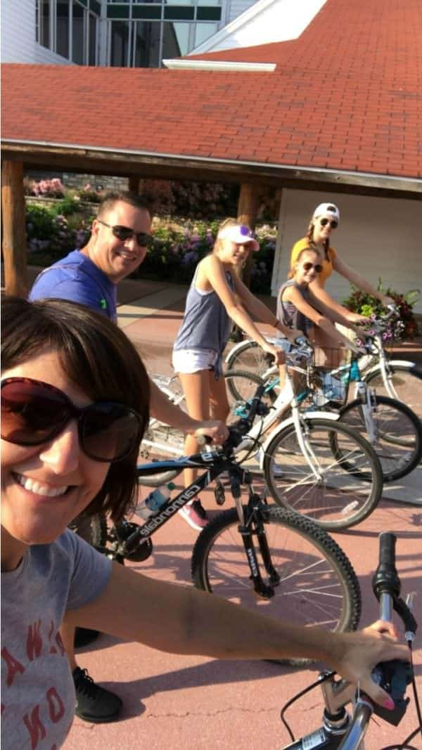 Riding Bikes in Mackinac Island, Michigan