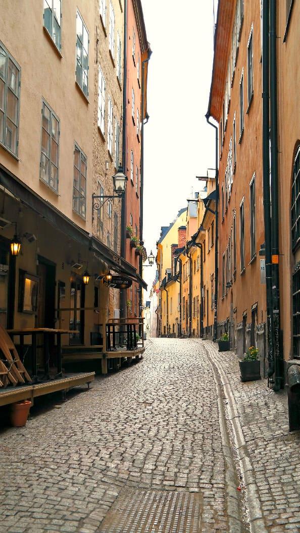 Stockholm, Sweden....cobblestone alleys