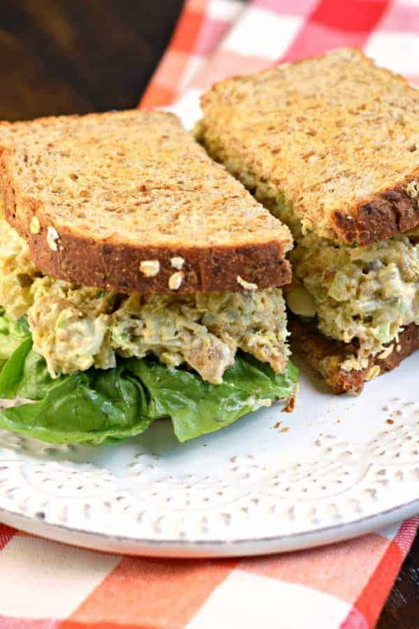 This tasty, Copycat Chick-fil-A Chicken Salad sandwich is made with breaded chicken, pickle relish, celery, eggs, and mayo. What's not to love about this iconic salad?
