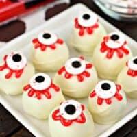 Spooky Eyeball Red Velvet Cake Balls