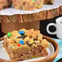 Monster Cookie Cheesecake Bars
