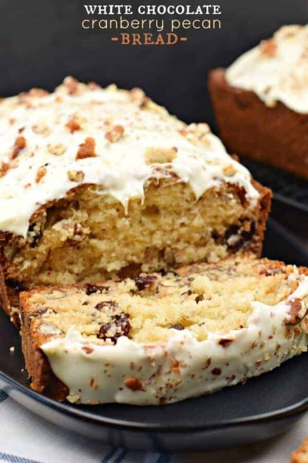 White Chocolate Cranberry Pecan Bread #quickbread #thinkfisher #sponsored @fishernutsbrand