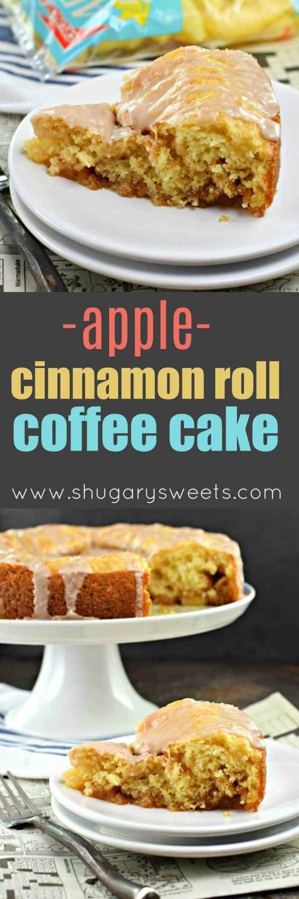 Apple Cinnamon Roll Coffee Cake #breakfast #brunch #coffeecake #cake #cinnamonroll