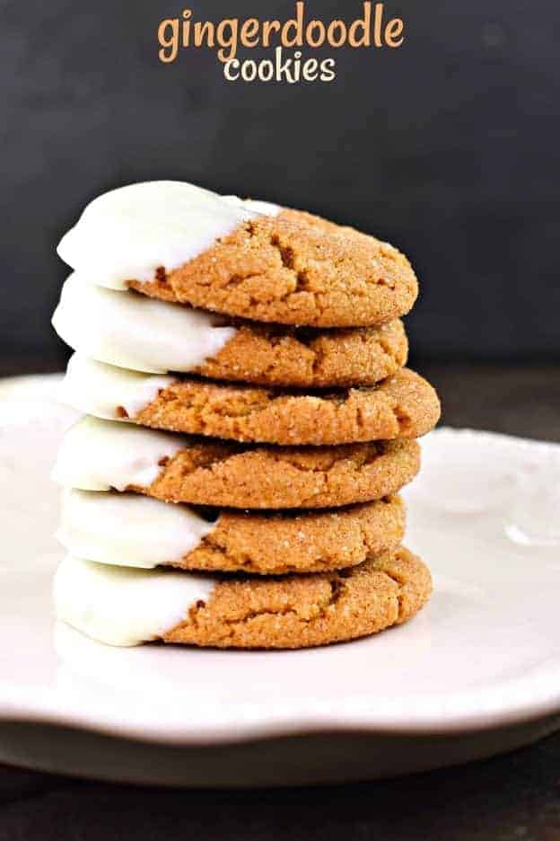 Gingerdoodle Cookies are chewy, soft cookies that taste like a cross between a gingersnap and a snickerdoodle. Add this to your baking list ASAP! You'll love the texture of the cookies, but more importantly the molasses flavor with the cinnamon, ginger, and cloves is irresistible!