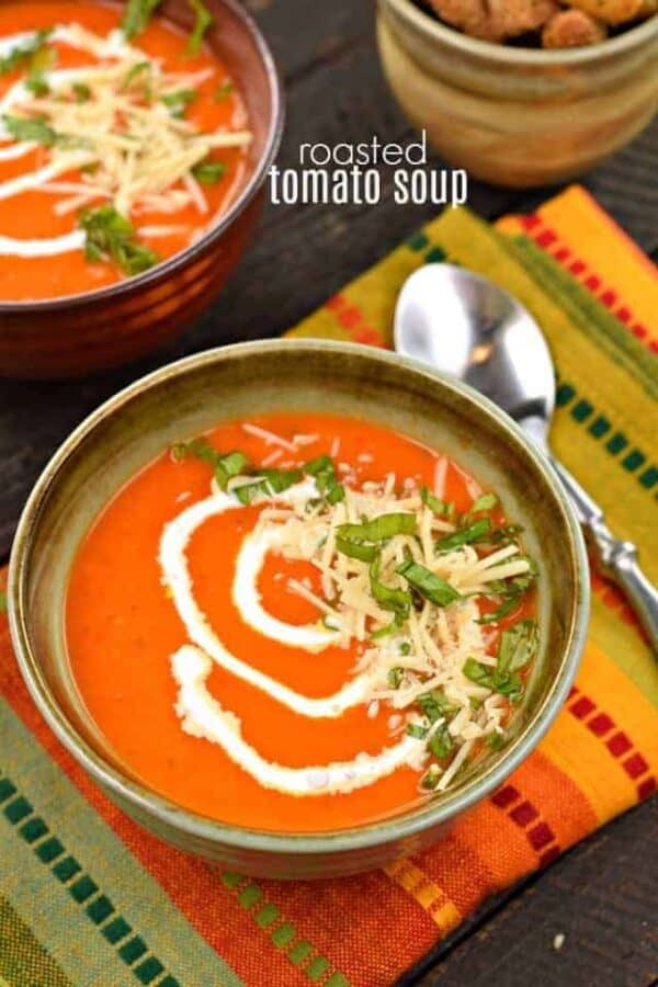 Roasted Tomato Soup #freshingredients #soup #comfortfood #tomatosoup #weeknightdinner
