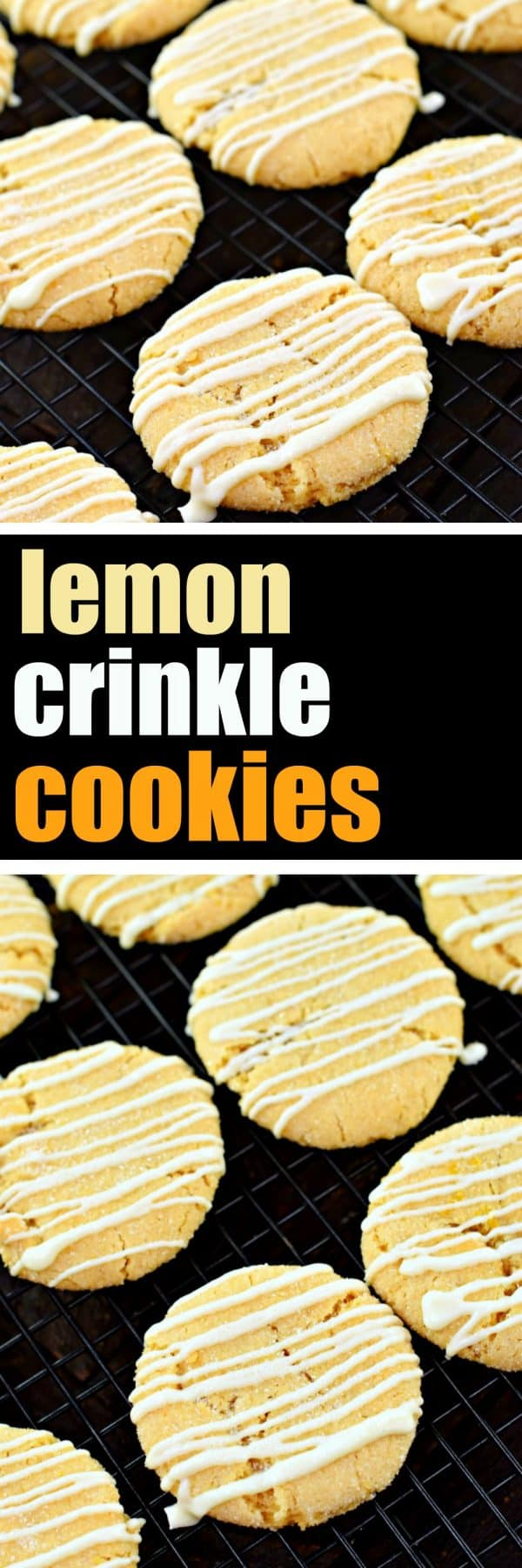 Lemon Crinkle Cookies, COOKIES, LEMON, DESSERT, WHITE CHOCOLATE, LEMONDOODLE, SANDING SUGAR