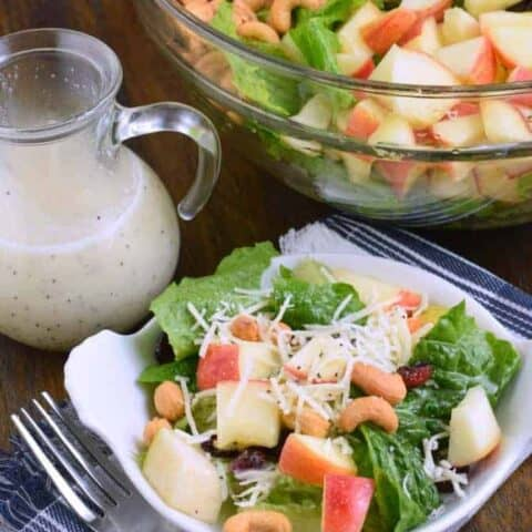 Harvest Salad and Lemon Poppy Seed Dressing