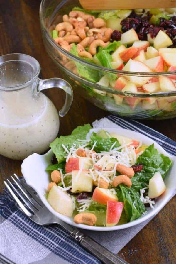 Harvest Salad with Lemon Poppy Seed Dressing
