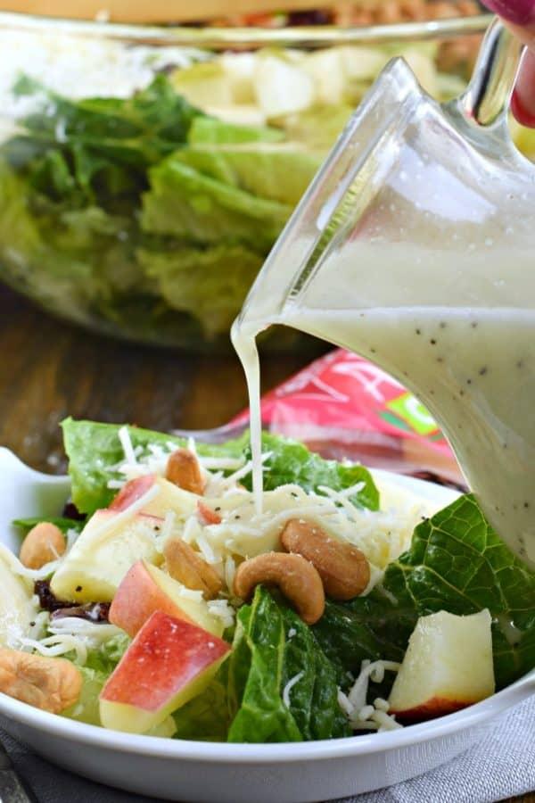 Lemon Poppy Seed dressing recipe, harvest salad