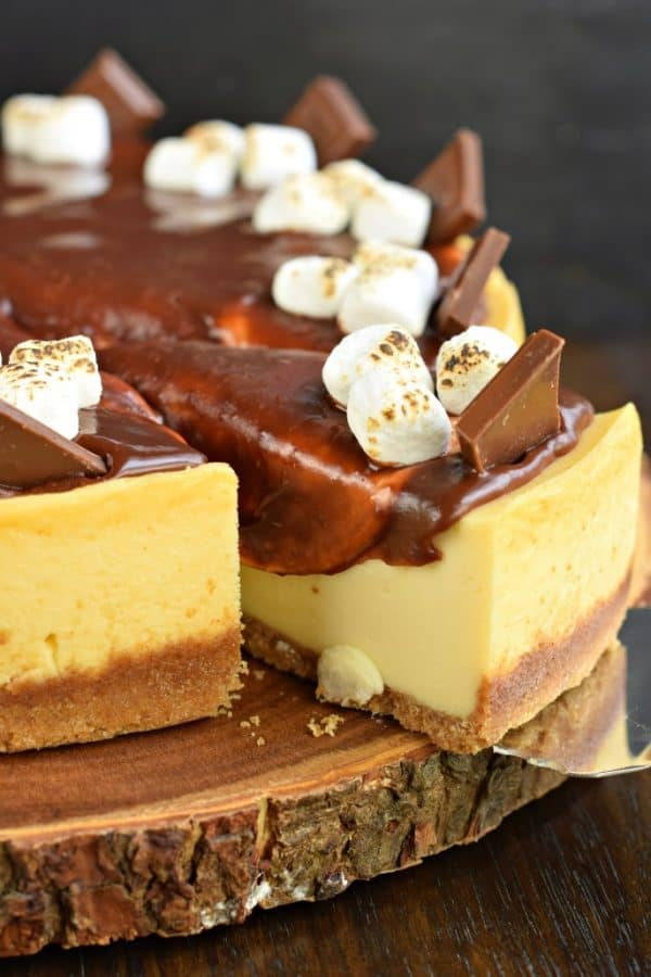 S'mores Cheesecake with ganache