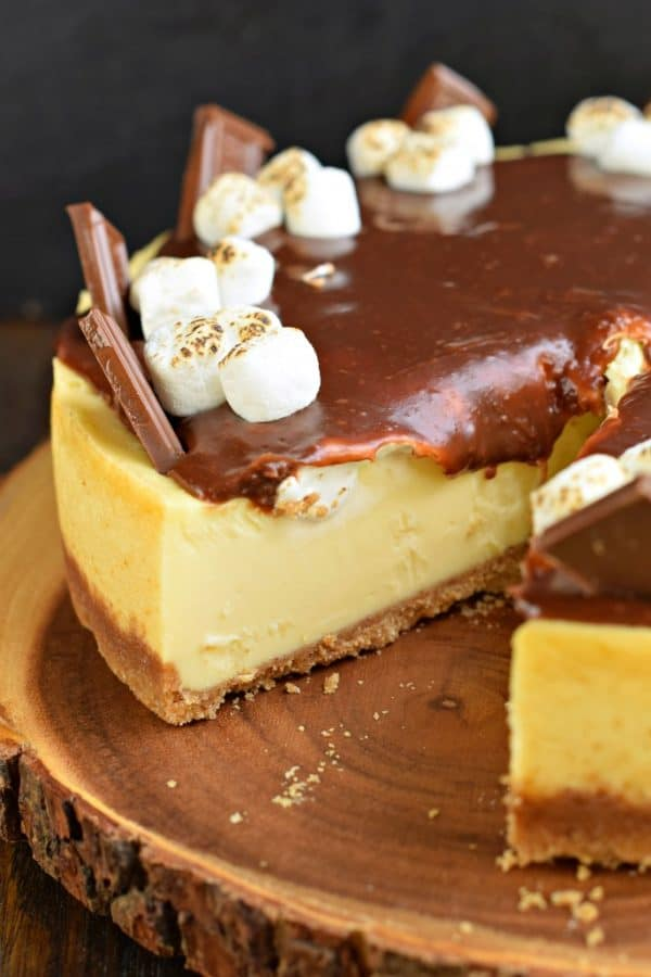 perfect slice of smores cheesecake recipe