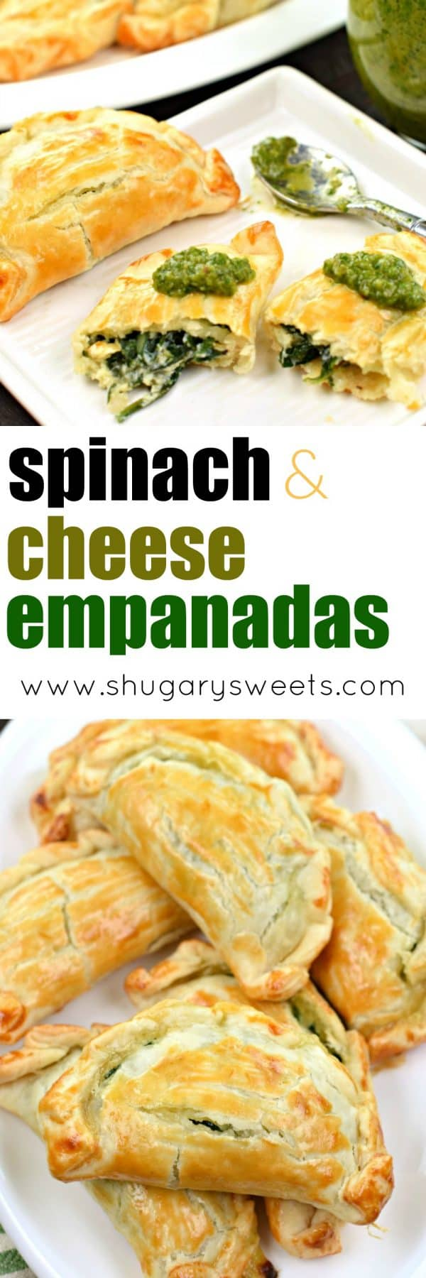 Spinach and Cheese Empanadas collage