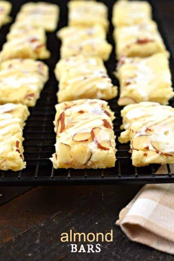 This Almond Bars recipe is a sweet treat that has a shortbread-like texture and a delicious almond glaze on top! You'll want to make extra and freeze them for later!