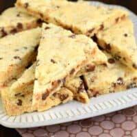 Chocolate Chip Toffee Shortbread Cookies