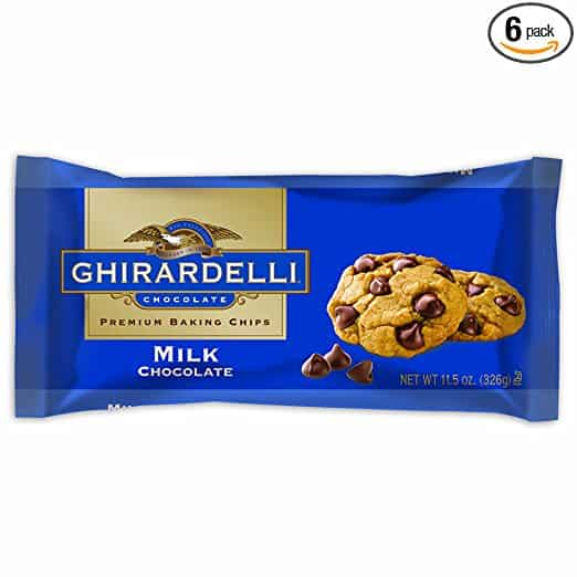 Ghirardelli Chocolate Baking Chips, Milk Chocolate, 11.5 oz, 6 Count