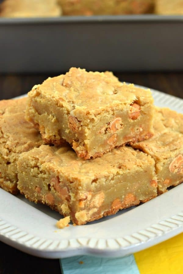 Chewy and delicious, these brown sugar Butterscotch Blondies are the perfect dessert!