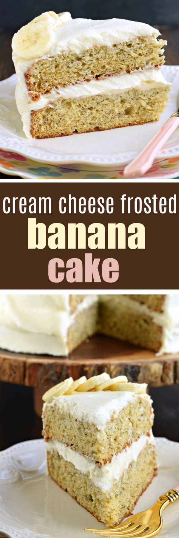 Cream Cheese Frosted Banana Cake