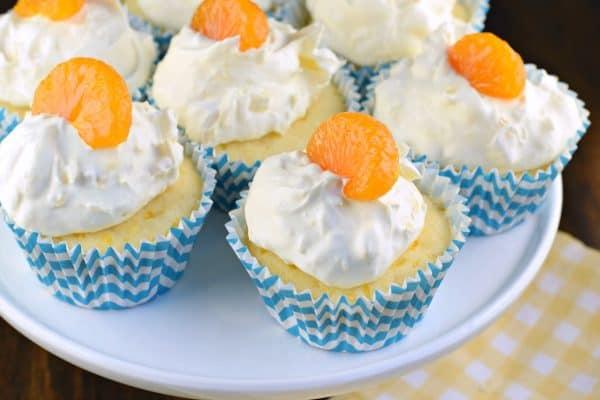 Pig Pickin Cupcakes, aka Orange Pineapple Cupcakes