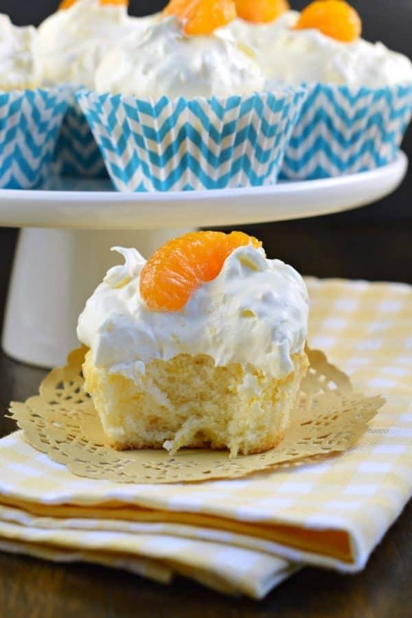 Orange Pineapple Cupcakes, aka Pig Pickin Cupcakes