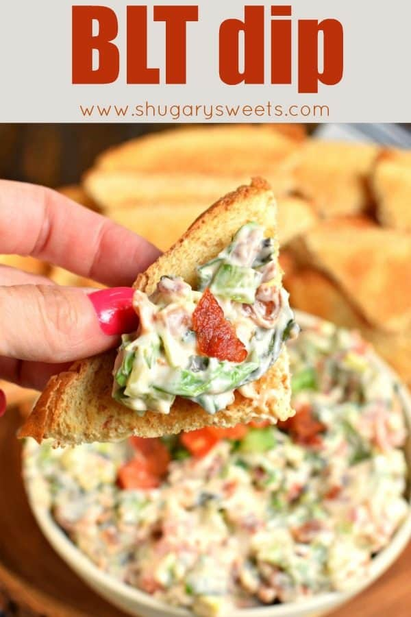 BLT Dip recipe. A classic appetizer based off a classic sandwich. Delicious and perfect for game day!
