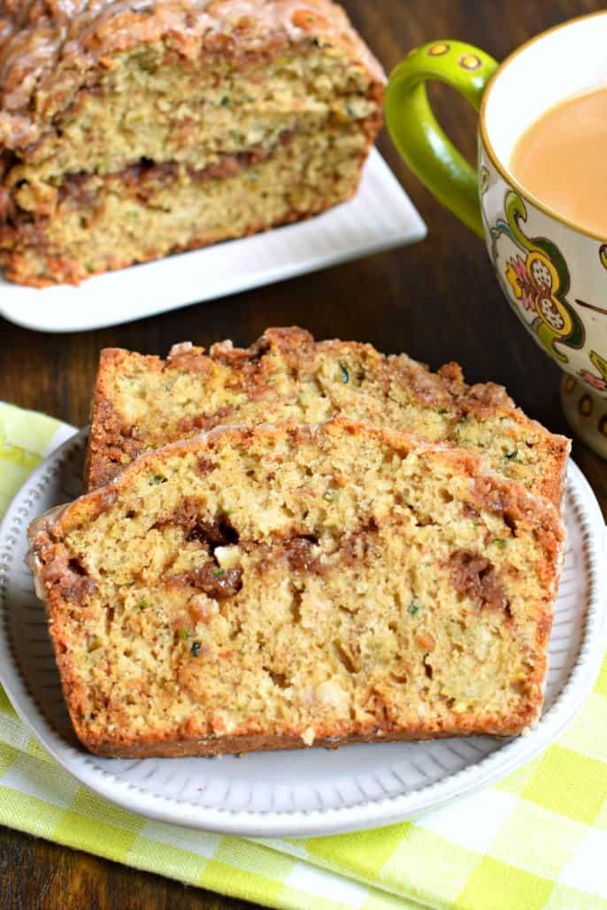Coffee Cake Zucchini Bread recipe