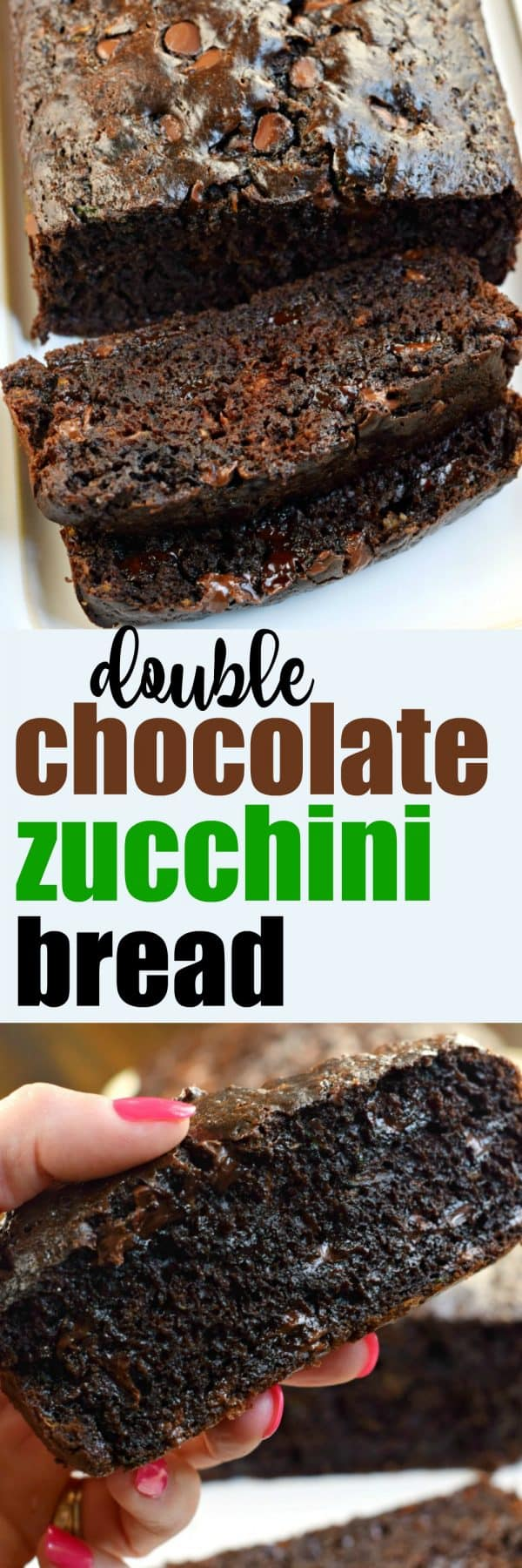 Double Chocolate Zucchini Bread recipe #freezerfriendly #zucchini #chocolate