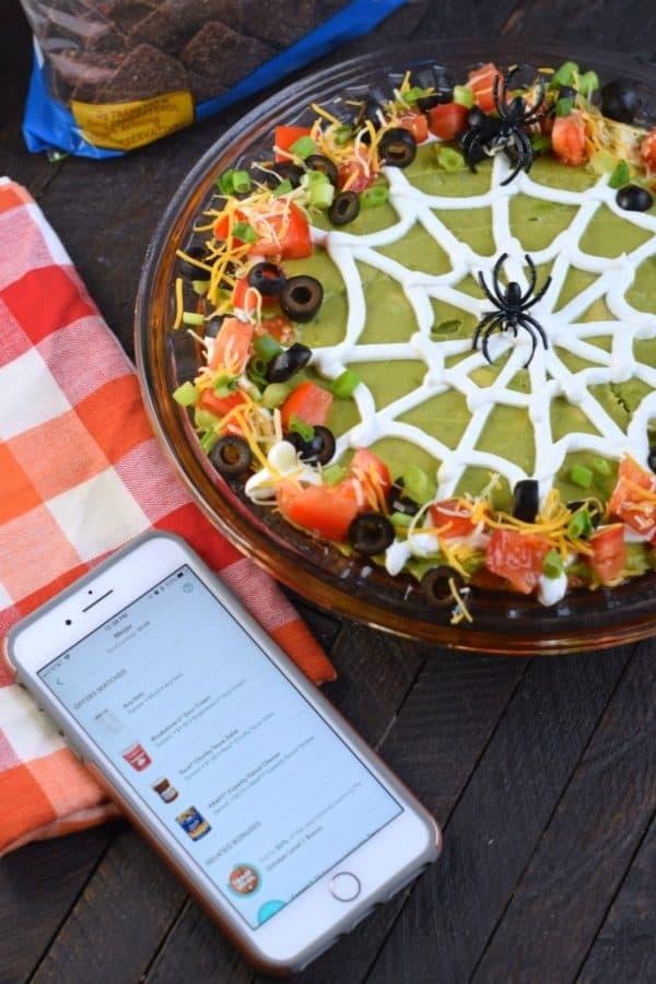 Halloween 7 Layer Taco Dip Recipe with Ibotta