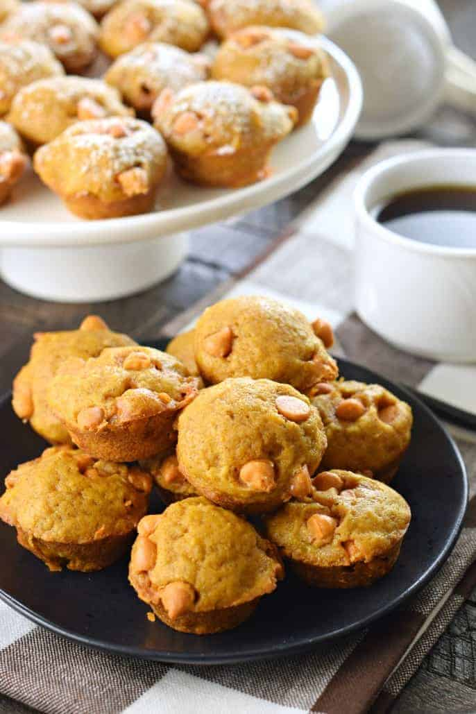 A new fall favorite, the Mini Pumpkin Butterscotch Muffins may be small, but they are big with flavor! This recipe is freezer friendly too!