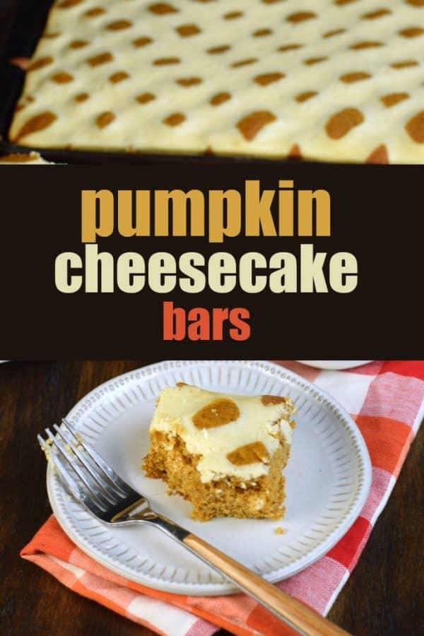 Pumpkin Swirled Cheesecake Bars