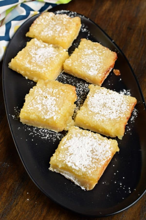 Lemon Bars: the perfect recipe has a shortbread crust and tart lemon filling.