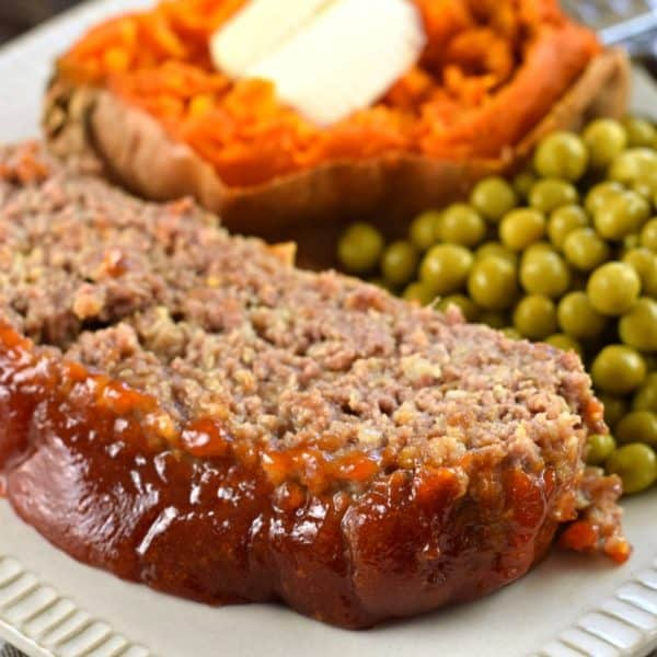 This is the best meatloaf recipe with it's tangy, sweet glaze on top!