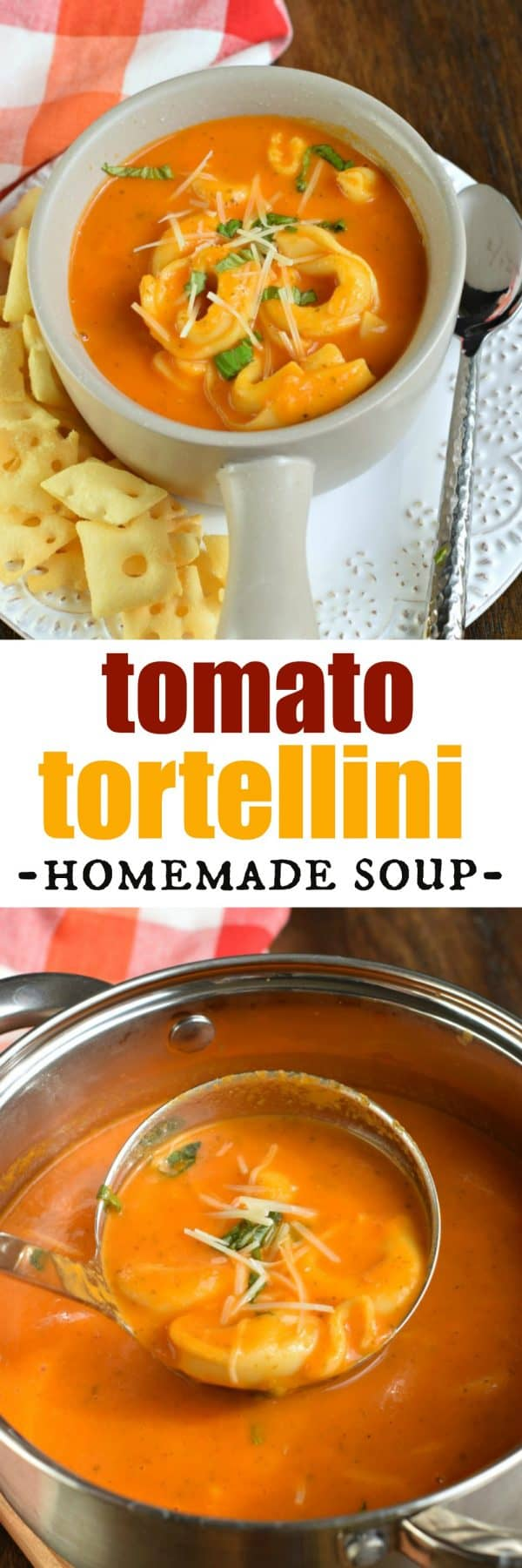 Delicious, homemade Roasted Tomato Tortellini Soup recipe. You'll love this restaurant quality soup that's full of flavor and easy to make!