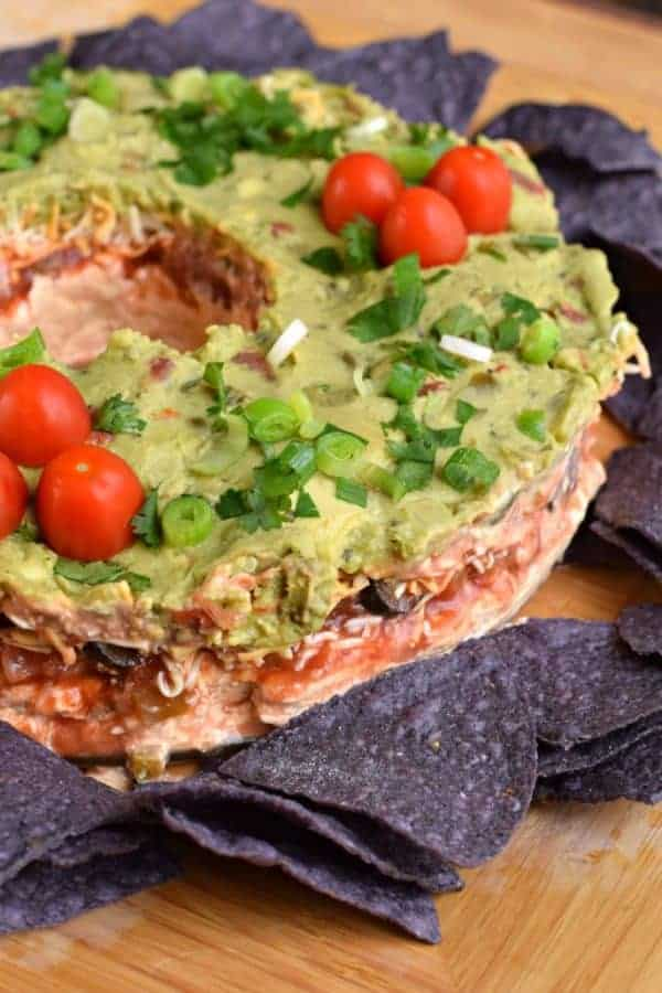 7 layer taco dip recipe for Christmas