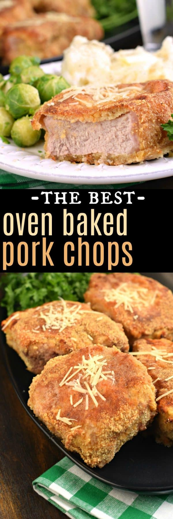 The Best oven baked PORK CHOPS. Parmesan crusted and crunch all around!