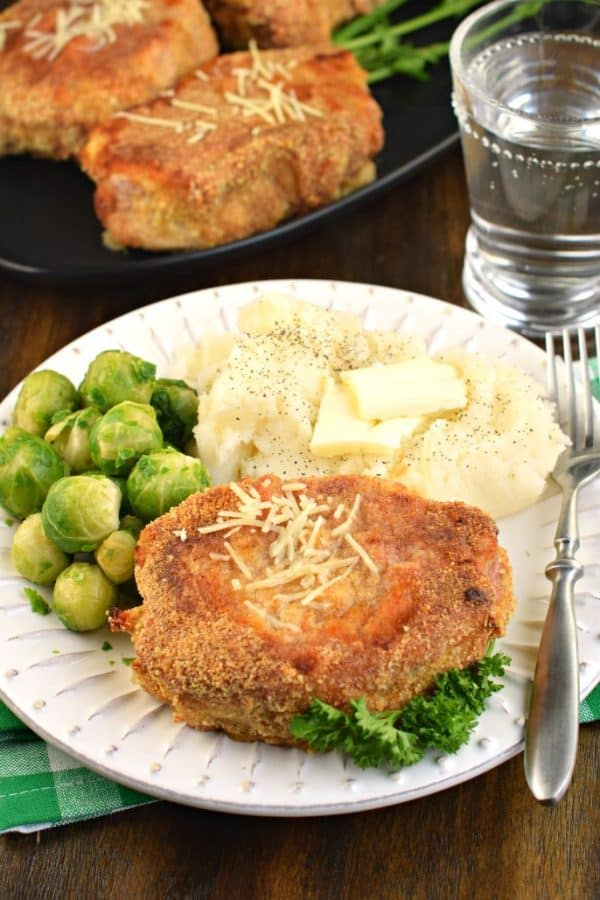 Oven Baked Parmesan Pork Chops recipe, moist, juicy pork chops for dinner!