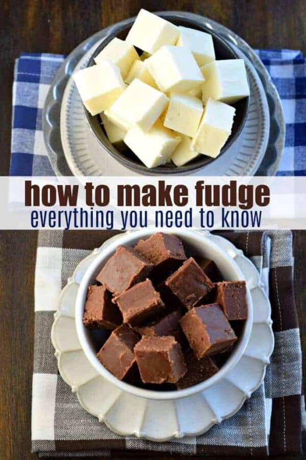 How to make fudge: get all the details you need with this delicious, easy to follow recipe. Totally customizable with lots of ideas too! #fudge #howto #christmascandy