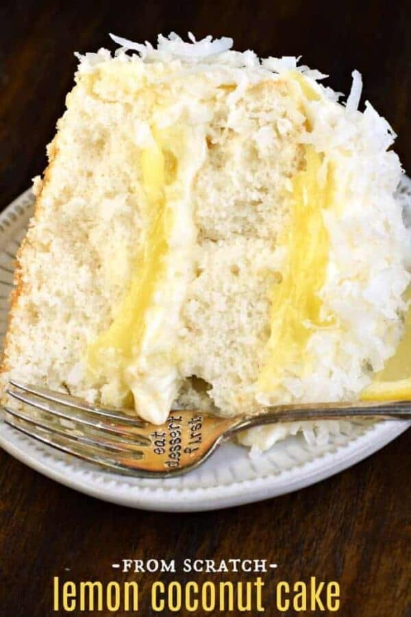 The very best, from scratch, Lemon Coconut Cake recipe #coconut #cake #lemon #creamcheesefrosting