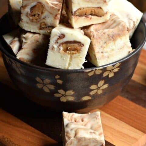 Vanilla Toffee Crunch Fudge