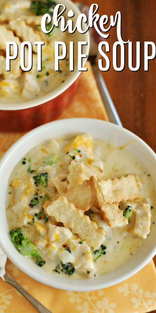 Need a quick and easy dinner idea? Try making some Chicken Pot Pie Soup. Use Pillsbury Pie Crust to make the crust on top, saves time and tastes delicious!