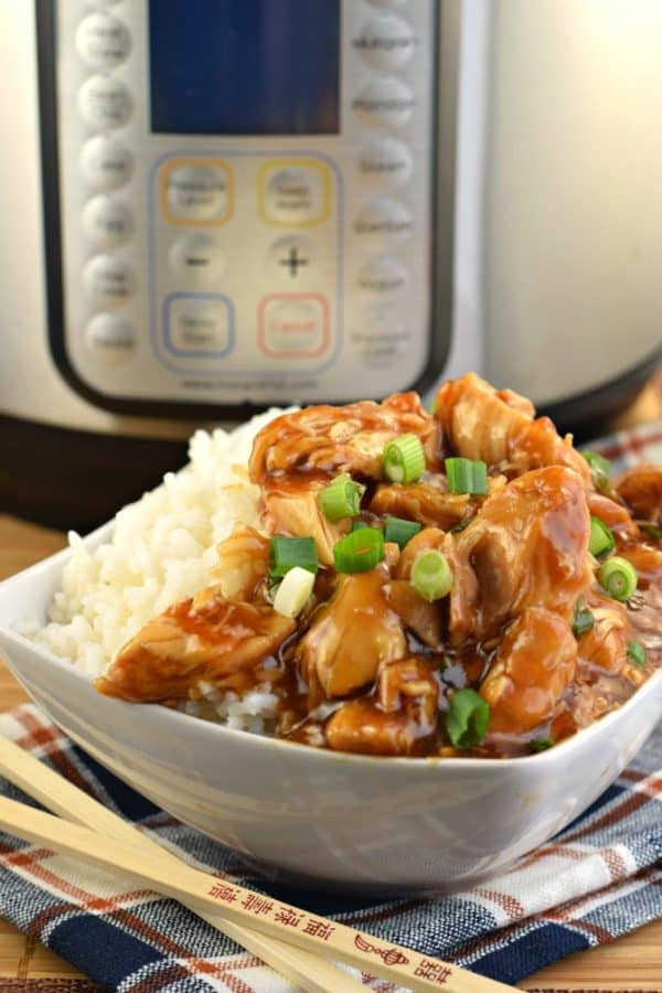 Easy Flavorful Instant Pot Honey Bourbon Chicken Recipe