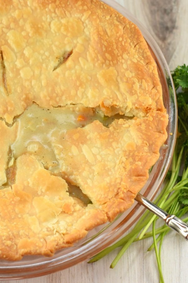 The Classic Homemade Chicken Pot Pie recipe. Warmth of a hearty chicken dinner in a flaky pie crust is the perfect comfort food.